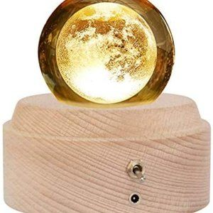 3D Crystal Ball Music Box Luminous Rotating Musica